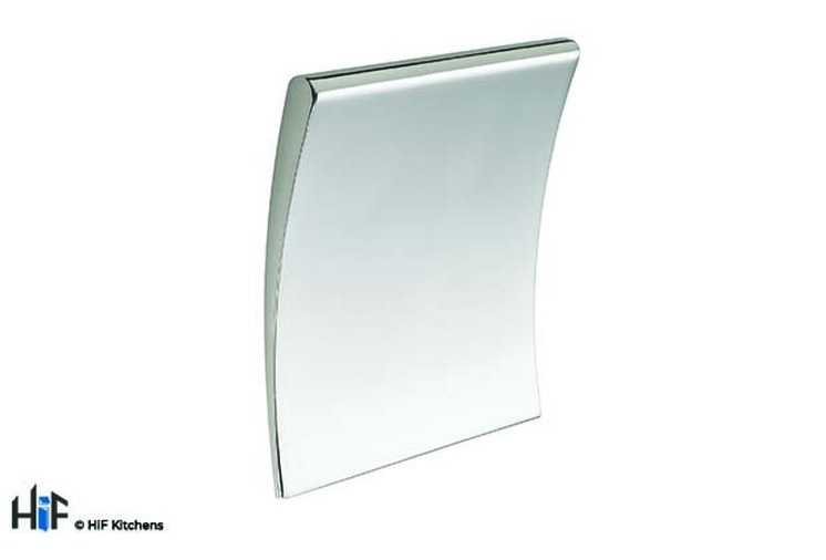 K1069.32.CH Square Pull Handle 32mm Hole Centre Chrome Effect Image 1