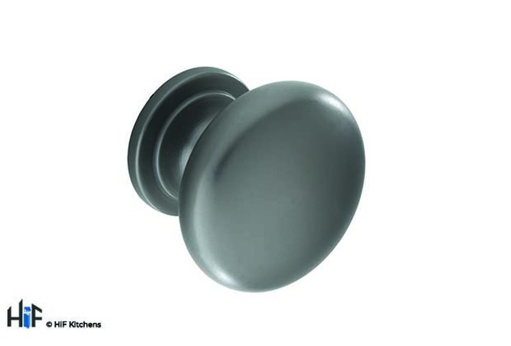 K1110.33.BS Kitchen Knob 33mm Black Satin Effect Image 1