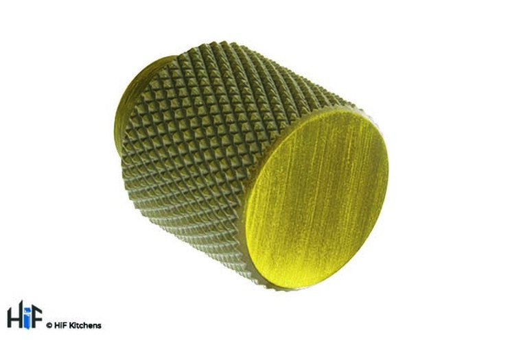 K1111.20.AGB Knurled Knob 20mm Aged Brass Image 1