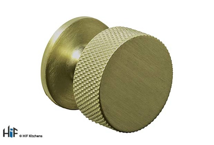 K1117.32.AGB Second Nature Knurled Cupboard Knob With Fixed Backplate Image 1