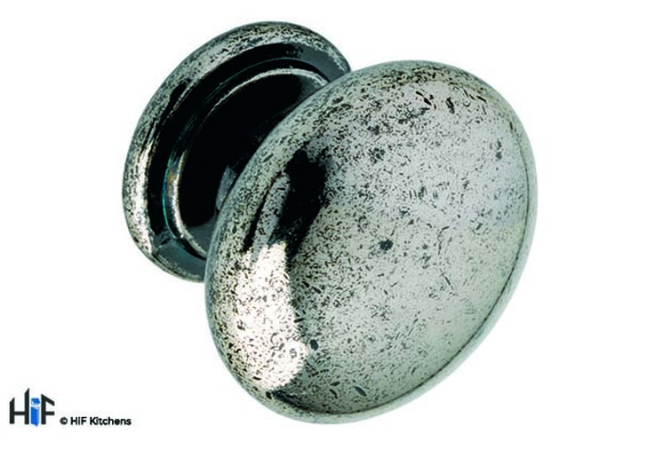 K265.33.PE Stivichall Knob Raw Pewter Effect Central Hole Centre Image 1
