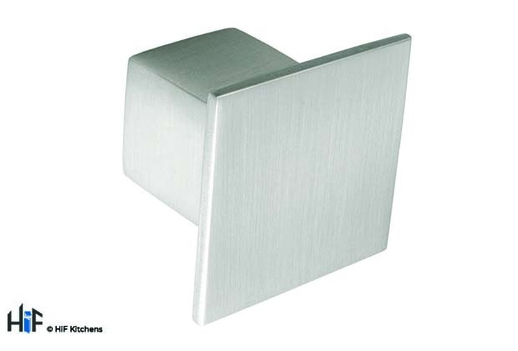 K353.36.SS Knob Square Stainless Steel Effect Image 1