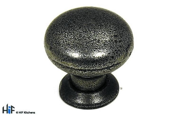 K375.35.CI Kitchen Knob 35mm Traditional Cast Iron Image 1