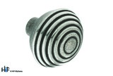 K484.44.PE Kitchen Knob With Circles 44mm Pewter  Image 1 Thumbnail