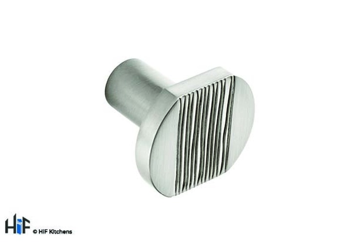 K530.35.SS Melton Knob With Textured Centre Brushed Stainless Steel Image 1