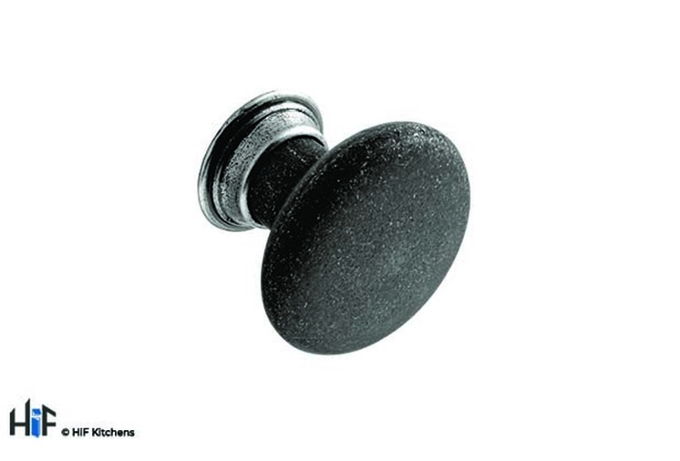 K562.32.BMS Kitchen Knob Diameter Black Matt Steel Pewter Effect Image 1