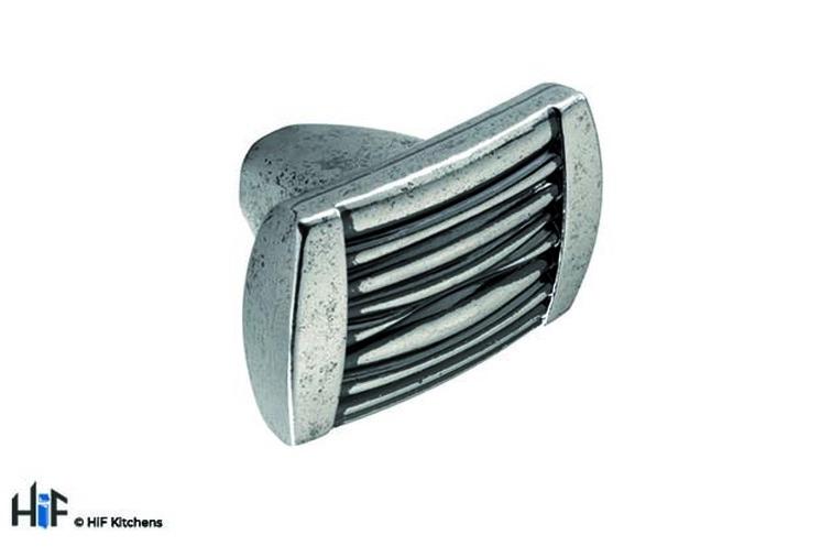 K854.37.PE Kitchen Door Handle Knobs Pewter 37mm Image 1