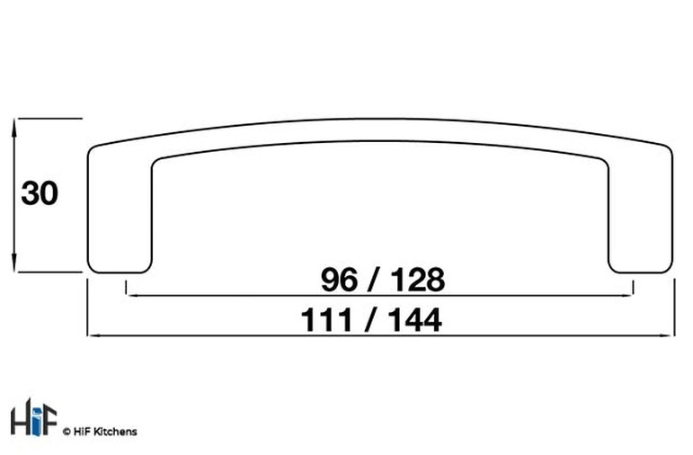 11.2620.CH Kitchen D Handle 128mm Die-Cast Chrome Finish Image 2
