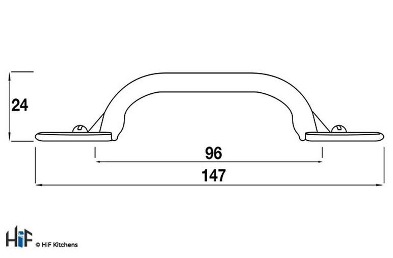 9/1320.50 Kitchen D Handle 96mm Die-Cast Antiqued Pewter Image 2
