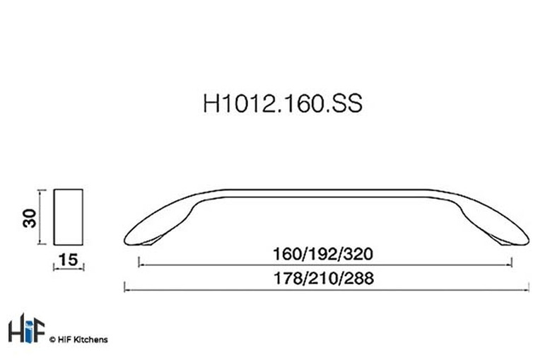 H1012.160.SS Seamer Bow Handle Stainless Steel Effect Image 2