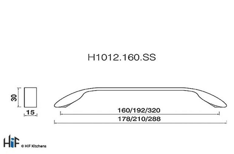 H1073.320.CH Kitchen D Handle 320mm Chrome Effect Sale On Image 2