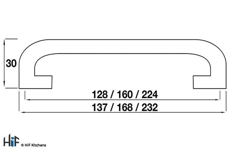 H296.160.C Kitchen D Handle 160mm Die-Cast Bright Chrome Image 2