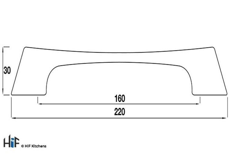 H434.160.CH Kitchen D Handle 160mm Die-Cast Bright Chrome Image 2