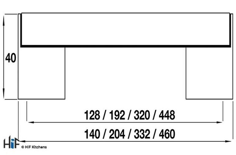 H757.128.CH Kitchen Bar Handle 128mm Chrome Finish Image 2