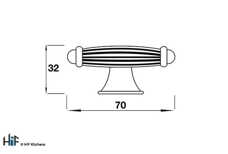 2432AP Knob T Shaped 70mm  Die-Cast Antiqued Pewter Image 2