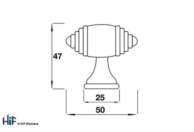 H219.50.AP T Handle Large 50mm Antiqued Pewter Effect Image 2