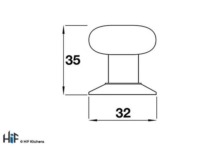 K373.35.PEGC Milner Knob Ceramic Crackle White Effect Central Hole Centre Image 2