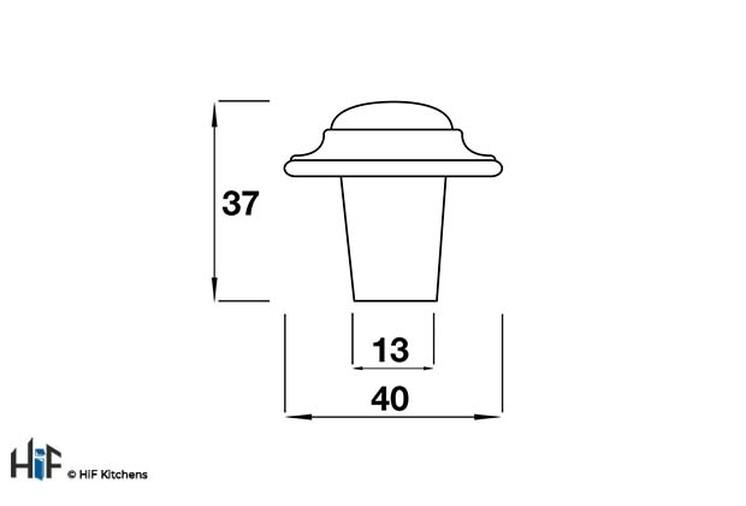 K485.40.PE Kitchen Knob 40mm Pewter  Image 2
