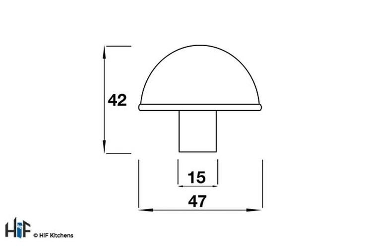 K489.47.PE Kitchen Knob 47mm Solid Pewter Image 2