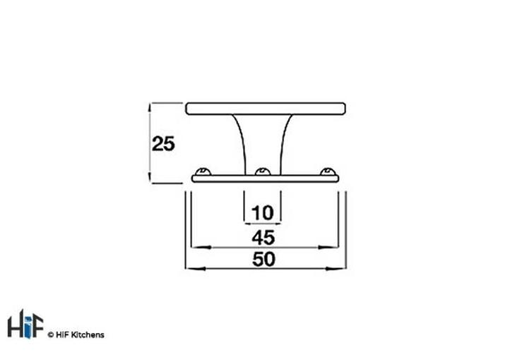 K628.50.PE Barford Knob Raw Pewter Central Hole Centre Image 2