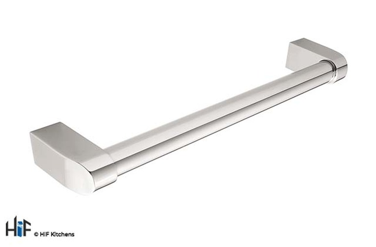 H1077.160.BN Kitchen Bar Handle 160mm Solid Brass Nickel Finish Image 1