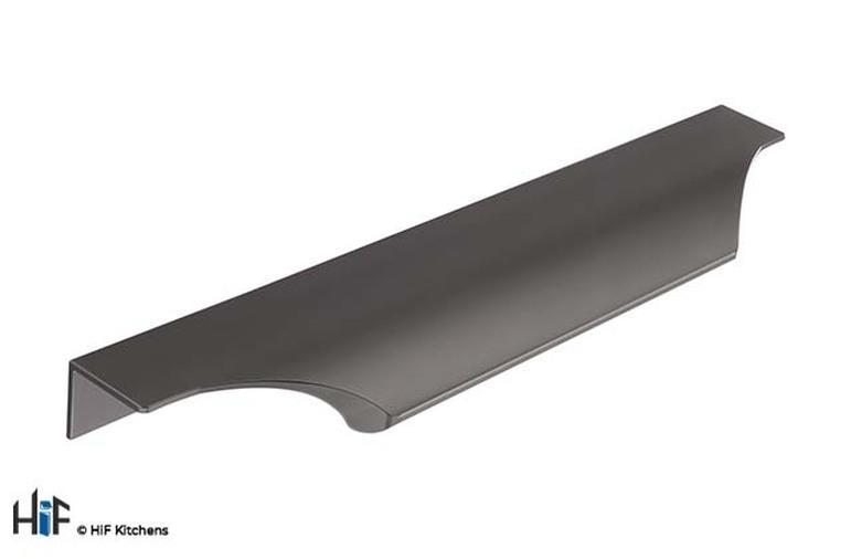 H1088.160.BS Trim Handle Teardrop Square 200mm Black Satin Image 1