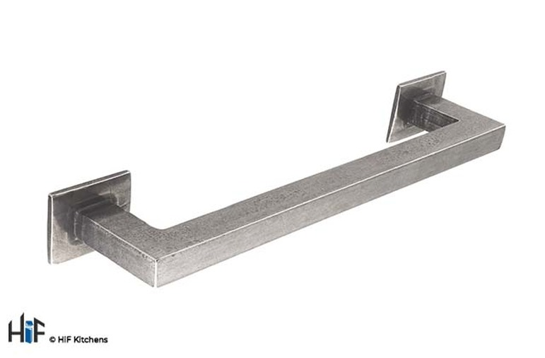 H1102.160.PE Square D Handle 160mm Pewter  Image 1