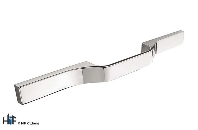 H1106.250.CH Kitchen D Handle 250mm Long Chrome Multi Hole Centres Image 1