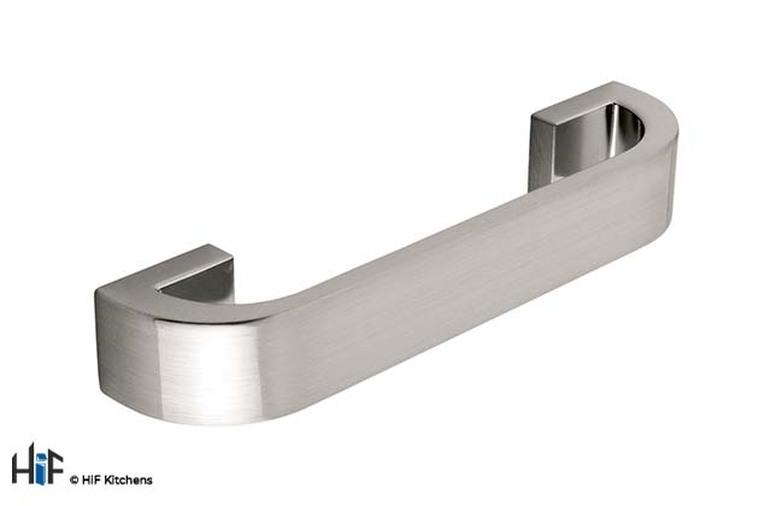 H295.128.SS Walton Kitchen D Handle Die-Cast Stainless Steel Image 1