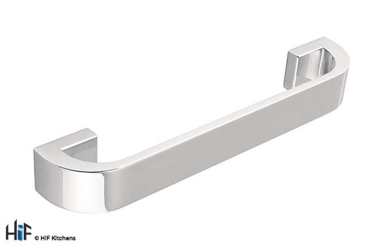H296.160.C Kitchen D Handle 160mm Die-Cast Bright Chrome Image 1