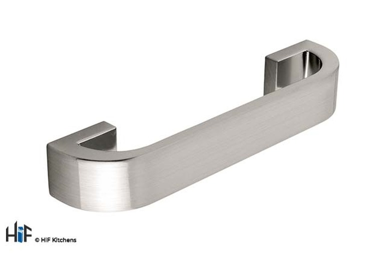 H297.160.SS Walton D Handle Die-Cast Stainless Steel Effect Image 1