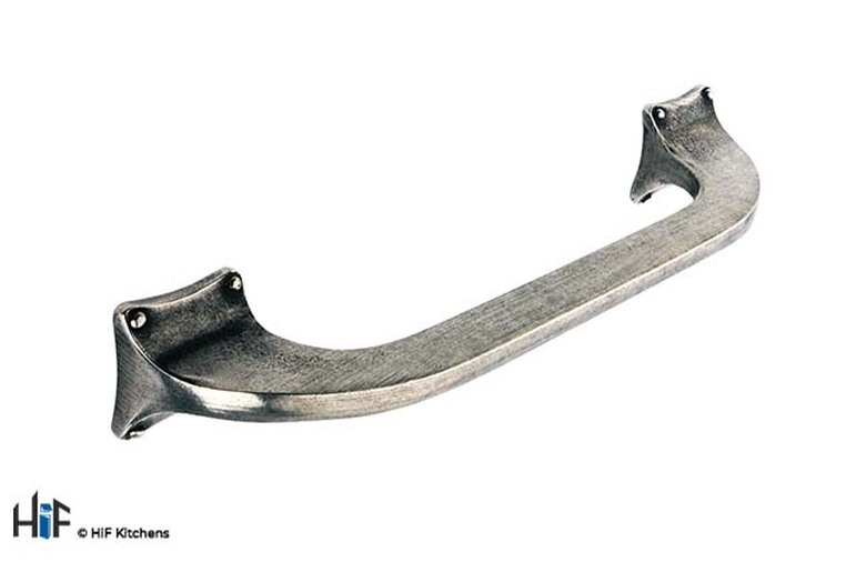 H466.128.PE Kitchen Bow Handle 128mm Pewter  Image 1