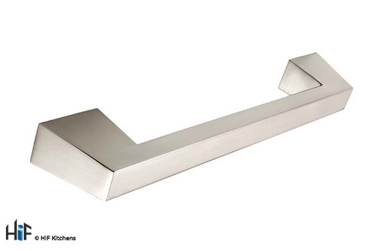 H522.160.SS D Handle Angular Stainless Steel Effect Image 1