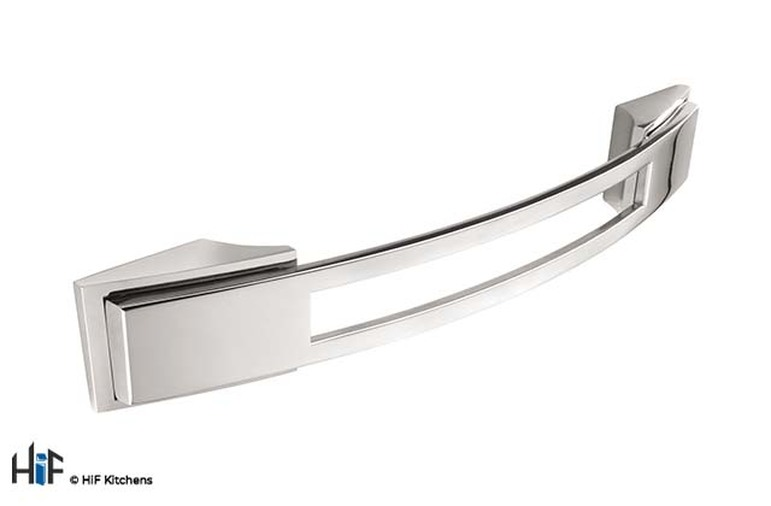 H589.128.BN Kitchen Bow Handle 128mm Bright Nickel Image 1