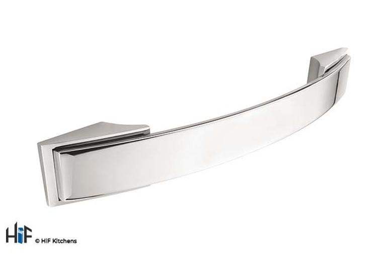 H590.128.BN Kitchen Bow Handle 128mm Bright Nickel Image 1