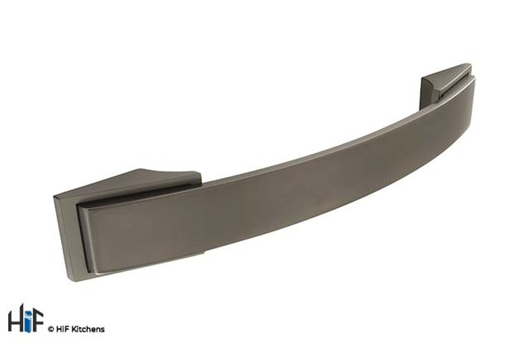 H590.128.BS Bow Handle 128mm Black Satin Effect Image 1