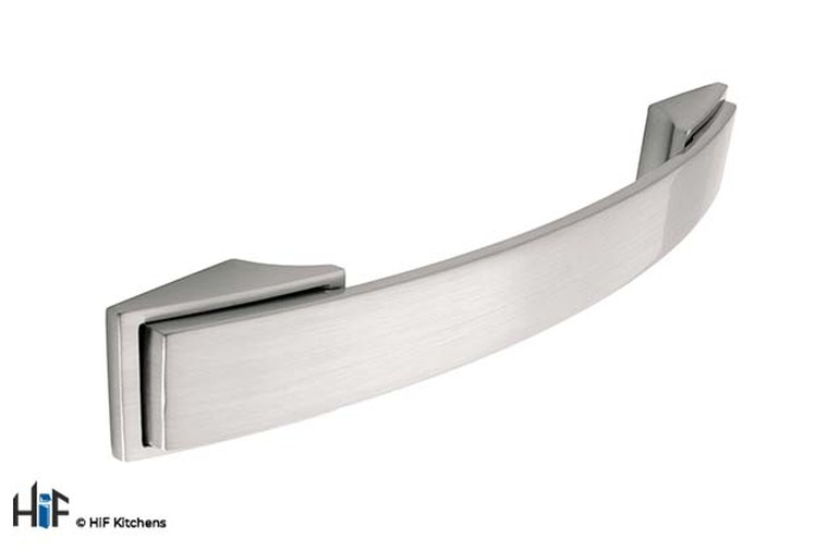 H590.128.SS Bow Handle 128mm Black Satin Effect Image 1