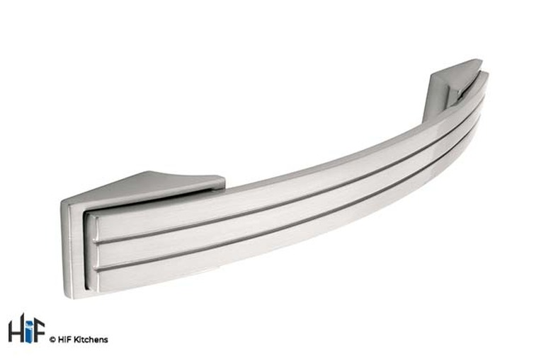 H600.128.SS Bowes Bow Handle Stainless Steel Effect Image 1