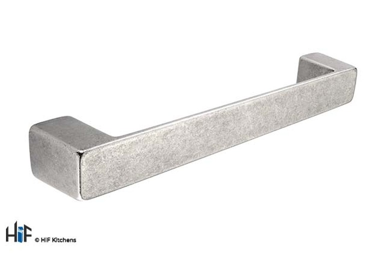 H868.128.AS Kitchen Bar Handle 128mm Antique Silver Effect Image 1