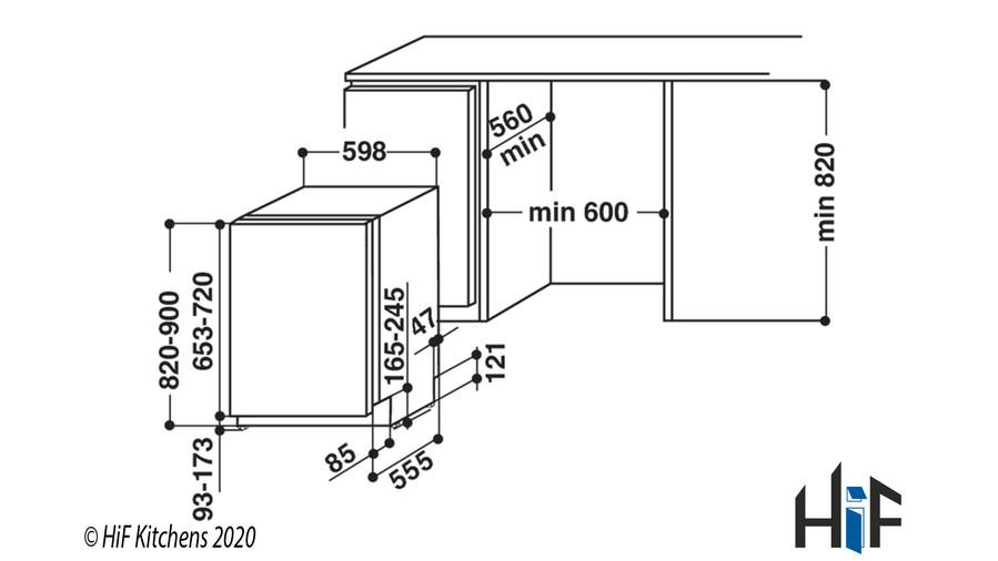 Hotpoint HIC3C26WF Int Dishwasher Image 20