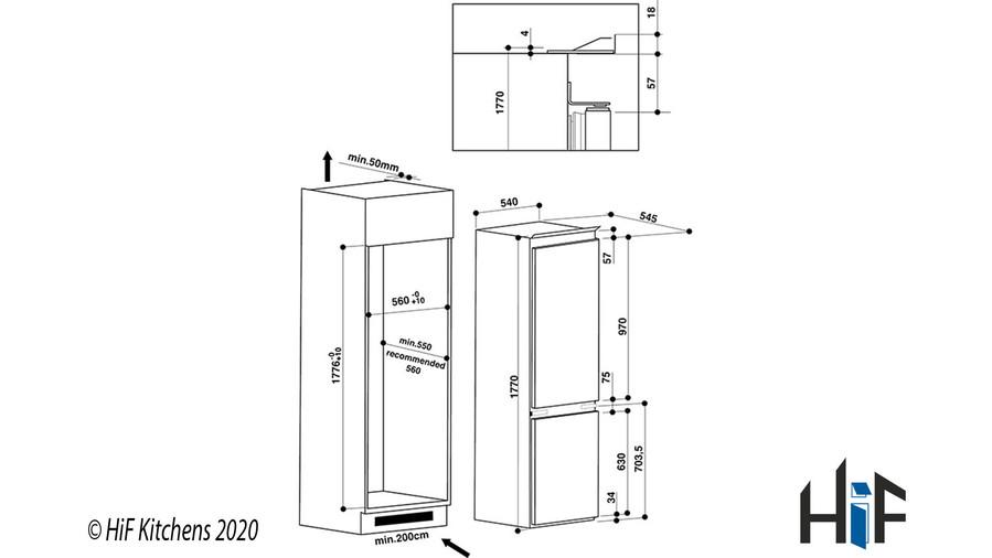 Hotpoint Day1 HM 7030 E C AA O3.1 Integrated Fridge Freezer Image 16