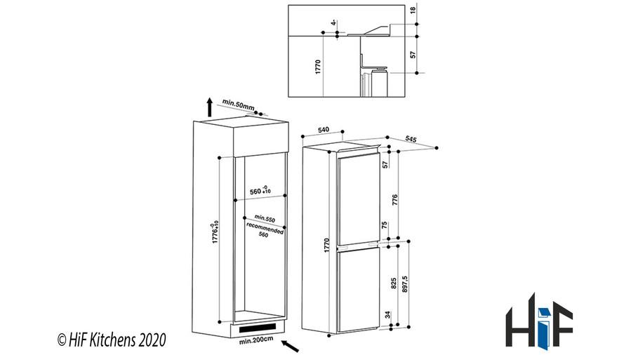 Hotpoint Aquarius HMCB 5050 AA.UK.1 Integrated Fridge Freezer Image 11