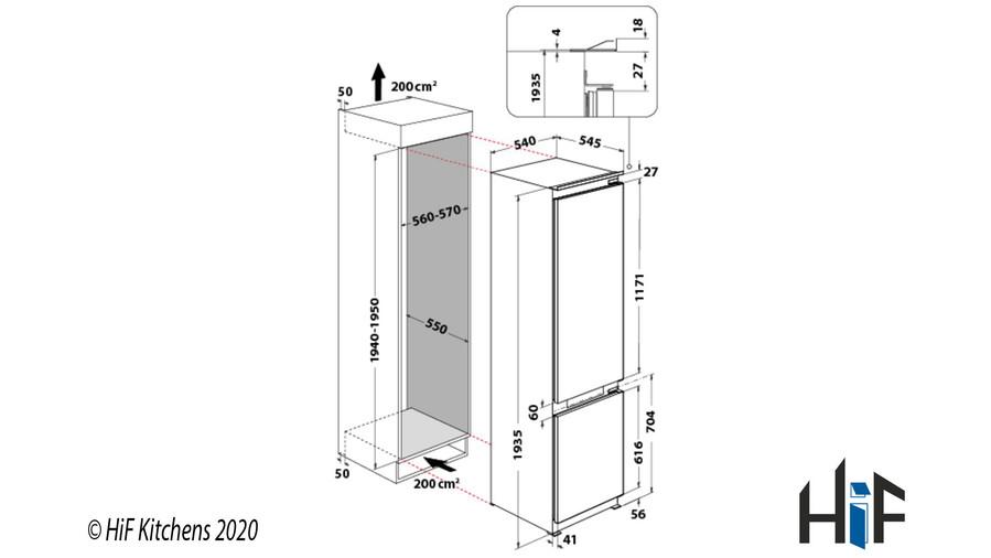 Hotpoint Day1 BCB 8020 AA F C.1 Integrated Fridge Freezer Image 5
