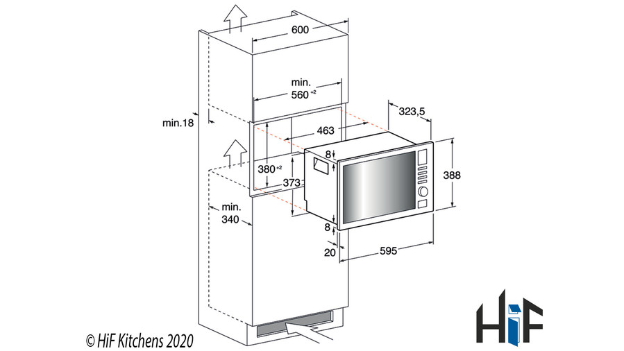 Hotpoint New style MWH 222.1 X Built-In Microwave Image 9