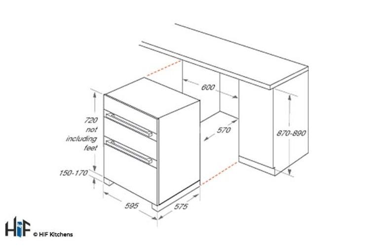 Hotpoint Built Under Double Oven DKU5 541 J C IX  Image 2