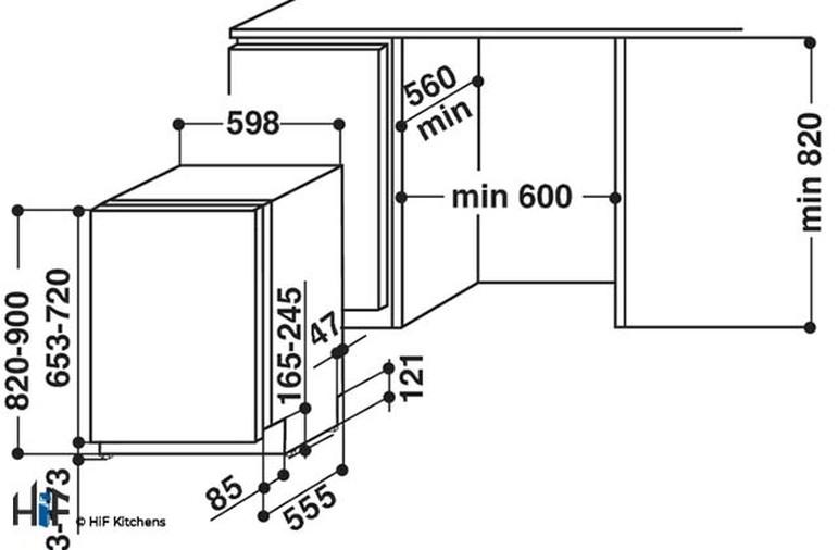 Hotpoint LTB4B019 60cm Integrated Dishwasher Image 16