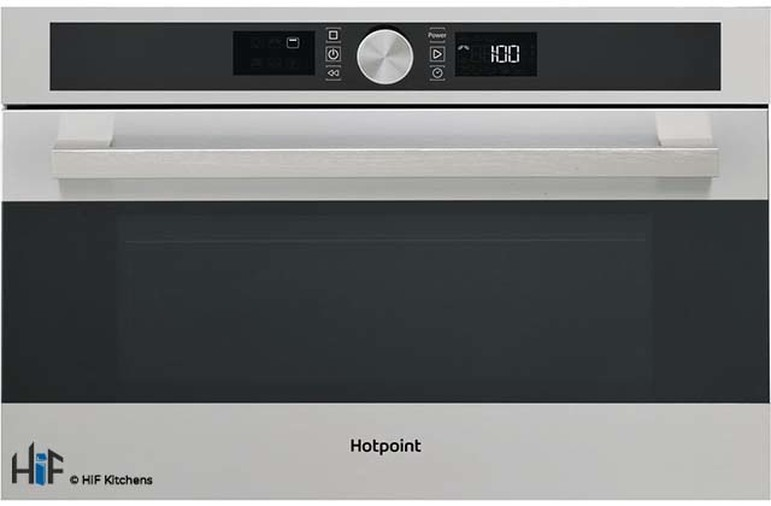 Hotpoint MD554IXH Built-In Microwave - Stainless Steel Image 1