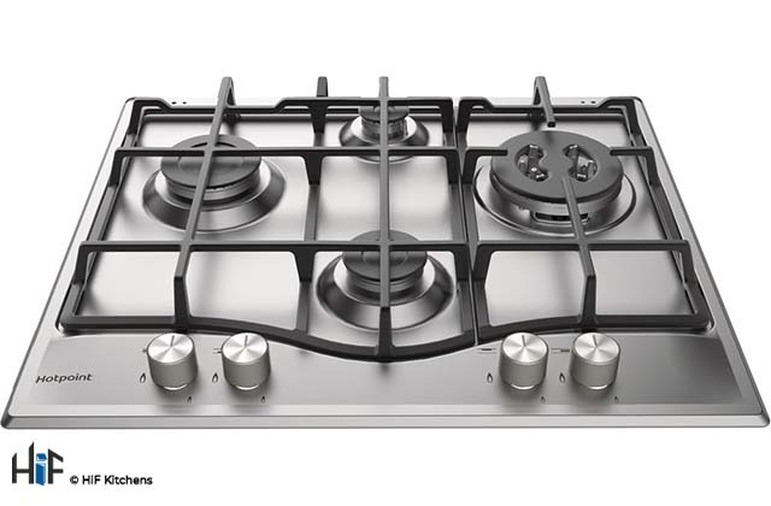 Hotpoint PCN641TIXH 60cm Gas Hob Stainless Steel Image 1
