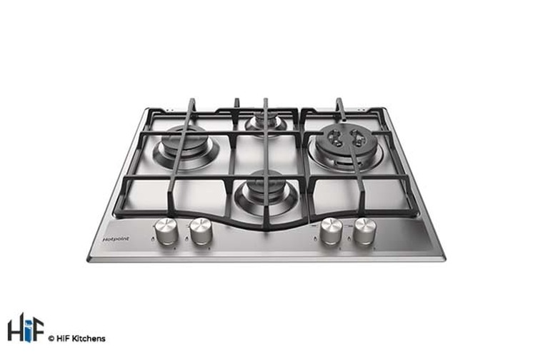 Hotpoint PCN641TIXH 60cm Gas Hob Stainless Steel Image 2
