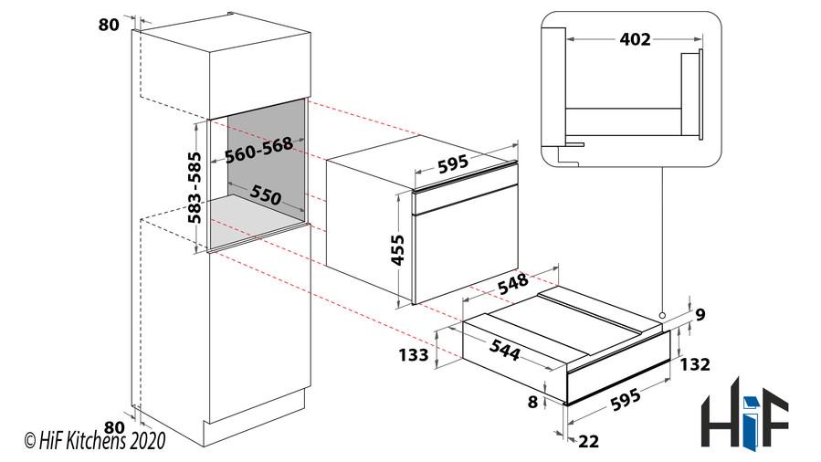 Hotpoint UD 514 IX Utility Storage Drawer S/Steel Image 2